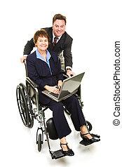 -, partenaires, business, incapacité