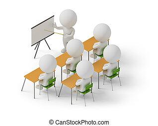 -, persone, corsi, addestramento, isometrico