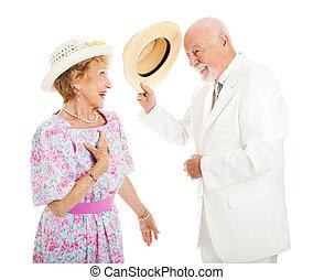 -, personne agee, chevalerie, couple, méridional