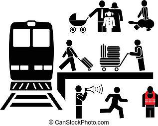 -, pessoas, pictograms, ícones