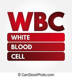 -, pilha sangue branca, wbc, acrônimo