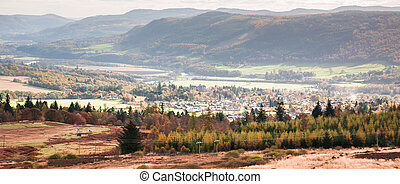 -, pitlochry, touriste, automne, perthshire, ecosse, ...