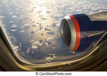-, plane\'s, transport, motor, luft