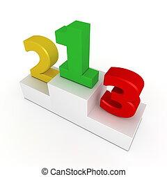 -, podium, 3, gelber , sieg, 2, grün, 1, rote zahlen