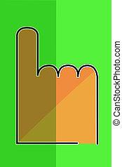 -, pointage, main