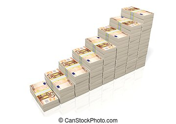 -, pojęcie, wzrost, 50, euro