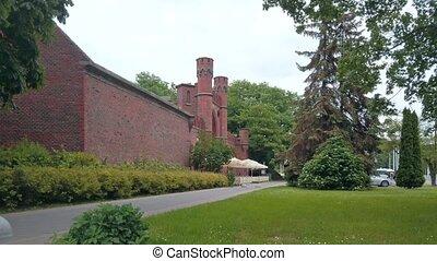 -, portail, kaliningrad, vieille ville, repère, moyen-âge