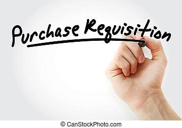 -, pr, requisição, acrônimo, compra