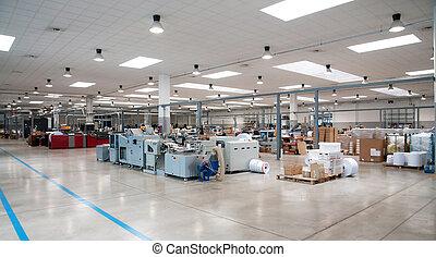 -, printshop, printing), (press, 仕上げライン