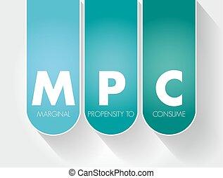 -, propensión, siglas, marginal, consumir, mpc