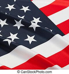 -, propre, amérique, uni, a froissé, etats, drapeaux, série