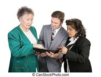 -, rapport, het verontrusten, groep, zakelijk, anders