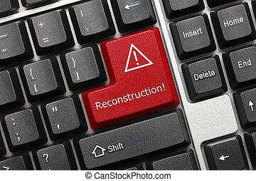 -, (red, key), rekonstruktion, tastatur, begrifflich