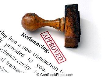 -, refinancing, aprovado