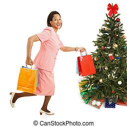 -, rennende , shoppen , kerstmis, omzet