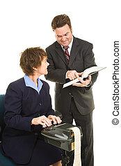 -, reporter, het bespreken, rechtszaak