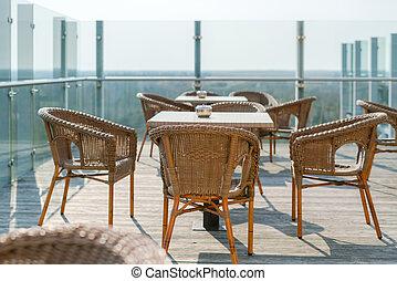 Sillones Wicker Y Mesa Muebles Modernos De Jardín Espacio