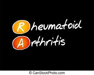 -, reumatóide, acrônimo, conceito, artrite, ra