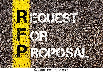 -, rfp, acronyme, proposition, demande, business