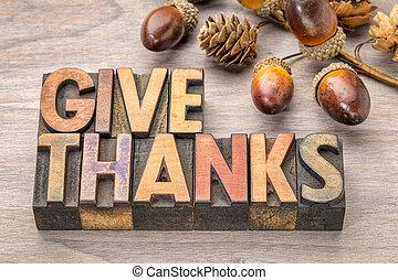 -, ringraziamento, concetto, dare, ringraziamento