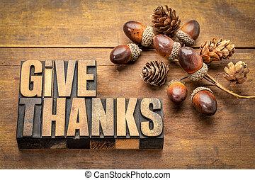 -, ringraziamento, dare, concetto, ringraziamento