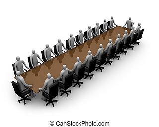 -, riunione, affari