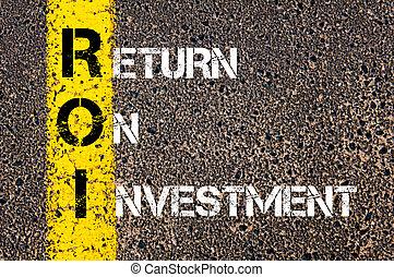 -, roi, akronym, retur, investering