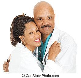 -, romance, amor, doctors, lugar de trabajo