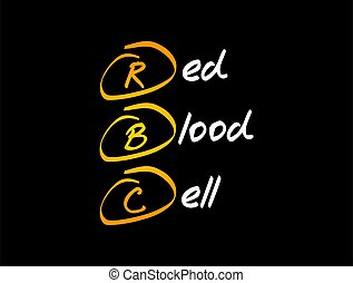 -, rotes , begriff, medizin, blut, rbc, zelle, akronym