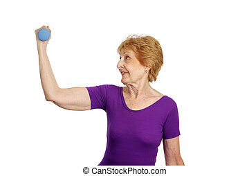 -, séance entraînement, personne agee, &, fort, soixante-dix