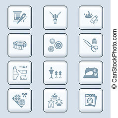 -, série, mode, technologie, icônes