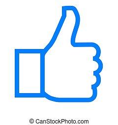 -, símbolo, como, vector, contorno, simple, aislado, icono, ...