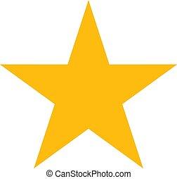 -, símbolo, vetorial, estrela, ícone