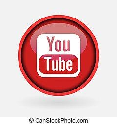 -, sammlung, populär, logo, gedruckt, märz, weißes, medien, paper:, 2, türkei, 2019:, istanbul, youtube., sozial