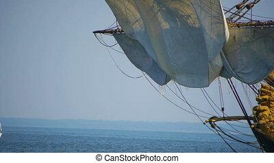-, schiff, altes , hd, segeln