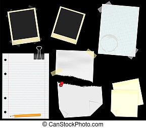 -, scrapbooking, briefpapier