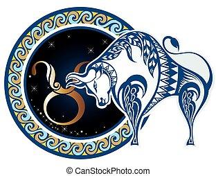 -, señales, zodíaco, tauro
