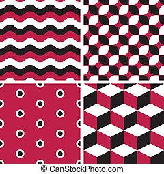 -, seamless, modelli, vettore, geometrico, tegolato