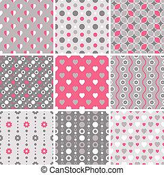 -, seamless, motieven, vector, geometrisch, tiling