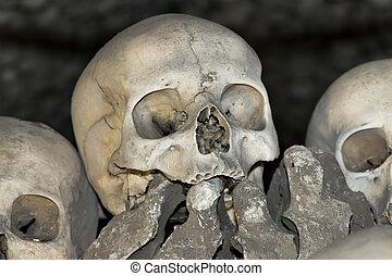 -, sedlec, casa, charnel, ossuary