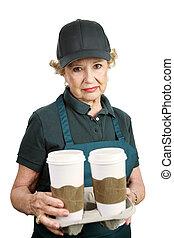 -, senior, terugtrekken, arbeider, onbekwaam