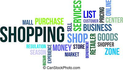 -, shopping, nuvola, parola