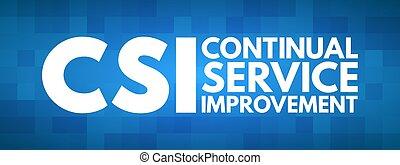 -, siglas, csi, servicio, continuo, mejora