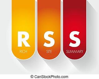 -, site, acronyme, rss, riche, résumé