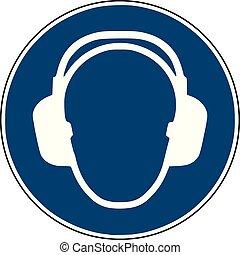 -, site, construction, sécurité, mandatory, signe, bleu, instruction