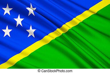 -,  Solomon,  honiara, bandiera,  Melanesia, Isole