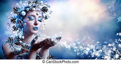 -, souhait, hiver, modèle, mode