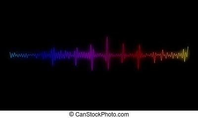 -, spectre, seamless, animation, vidéo, audio, boucle