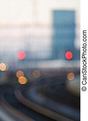 -, spoorweg, zachte focus