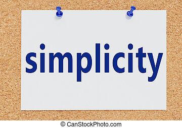 -, stile, semplicità, concetto